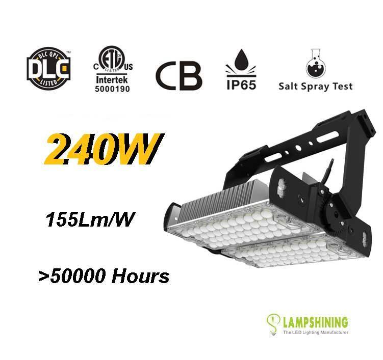 240W LED High Mast Light,Rotatable Module,155Lm/W,37800 Lumen,IP65,Stadium Light,Sports Lighting,Flood Lighting