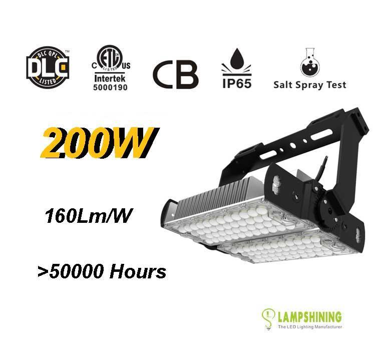200W LED High Mast Light,Rotatable Module,160Lm/W,32000 Lumen,IP65,Stadium Light,Sports Lighting,Flood Lighting