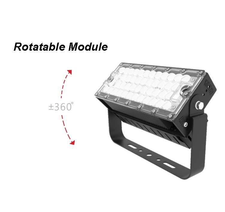 120W LED High Mast Light,Rotatable Module,155Lm/W,18600 Lumen,IP65,Stadium Light,Sports Lighting,Flood Lighting