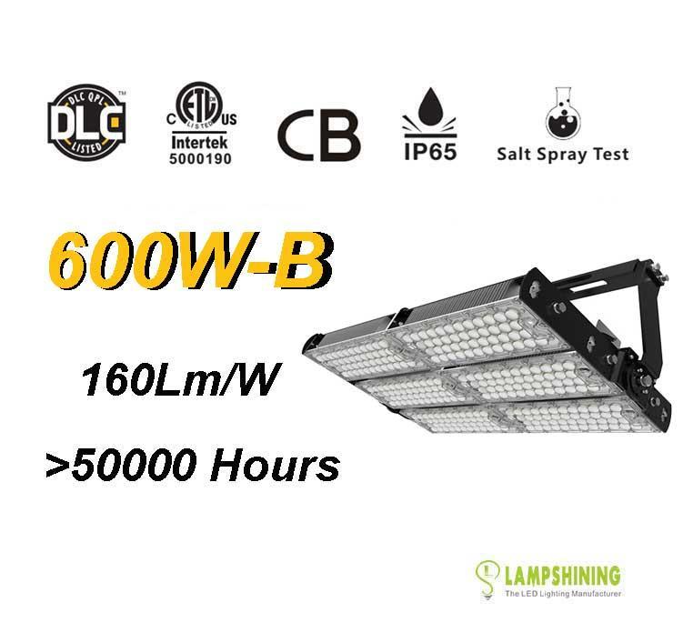 600W-B LED High Mast Light,Rotatable Module,160Lm/W,96,000 Lumen,IP65,Stadium Light,Sports Lighting,Flood Lighting