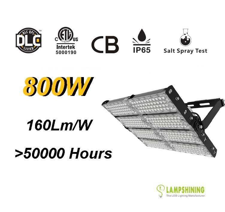 800W LED High Mast Light,Rotatable Module,160Lm/W,128,000 Lumen,IP65,Stadium Light,Sports Lighting,Flood Lighting