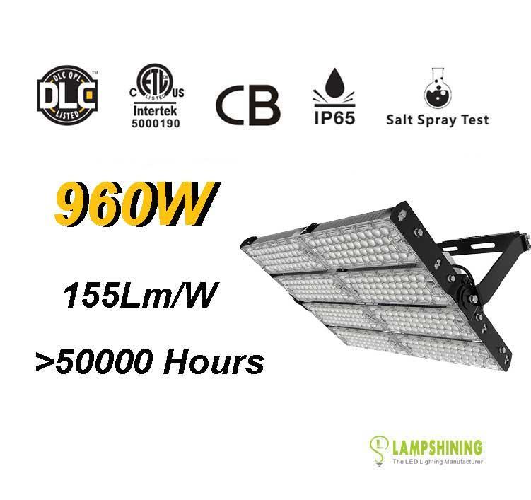960W LED High Mast Light,Rotatable Module,155Lm/W,148,800 Lumen,IP65,Stadium Light,Sports Lighting,Flood Lighting
