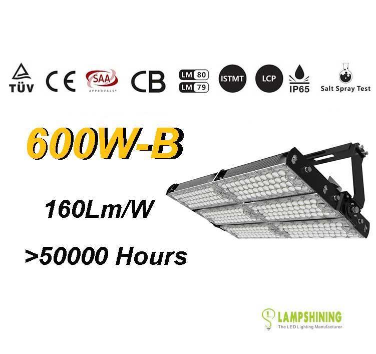 600W-B TUV SAA LED High Mast Light,Rotatable Module,160Lm/W,96,000 Lumen,IP65,Stadium Light,Sports Lighting,Flood Lighting