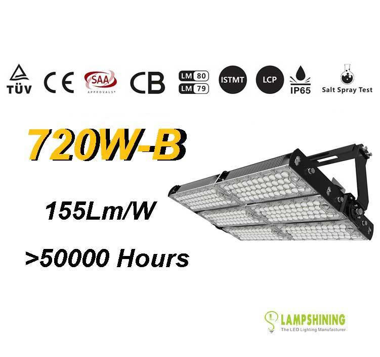 720W-B TUV SAA LED High Mast Light,Rotatable Module,155Lm/W,111,600 Lumen,IP65,Stadium Light,Sports Lighting,Flood Lighting