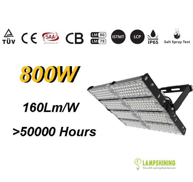 800W TUV SAA LED High Mast Light,Rotatable Module,160Lm/W,128,000 Lumen,IP65,Stadium Light,Sports Lighting,Flood Lighting