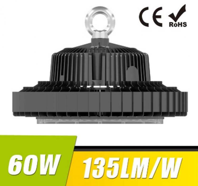 60W UFO LED High Bay Light 135Lm/W 8100 Lumen CE RoHS listed
