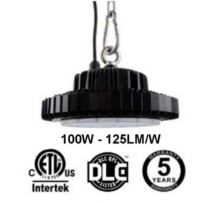 100W UFO LED High Bay Light 125Lm/W 12500 Lumen ETL cETL DLC listed