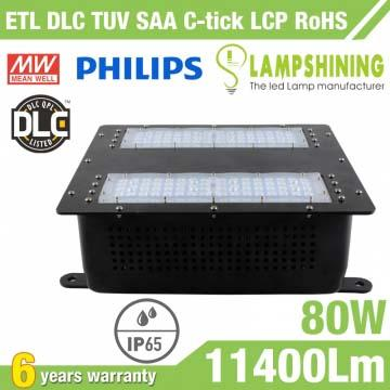 80W Gas Station LED Canopy Luminaire,11400 LM
