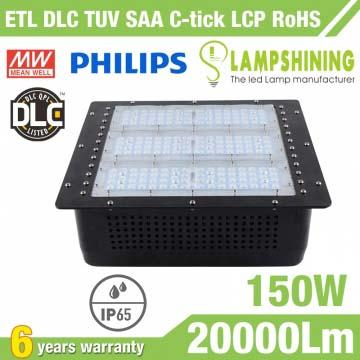150W Gas Station LED Canopy Luminaire,20000 LM