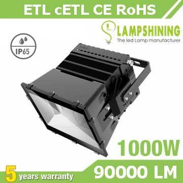 1000W LED Stadium Light,High Mast Light,90Lm/W,90000LM,IP66 Waterproof