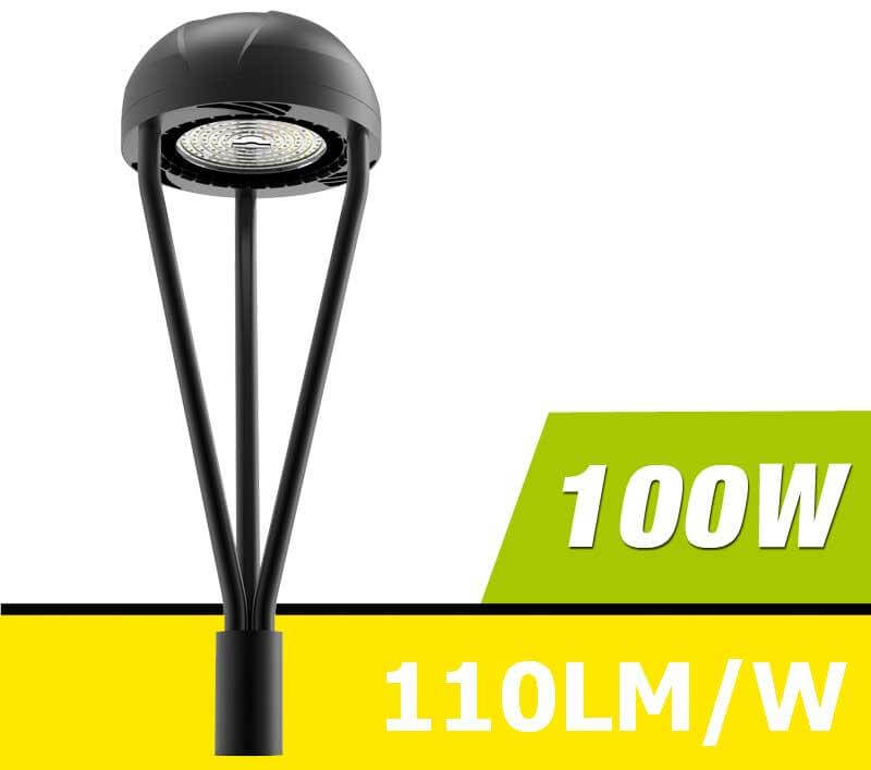 100W LED Post Top Light,11000 Lumens