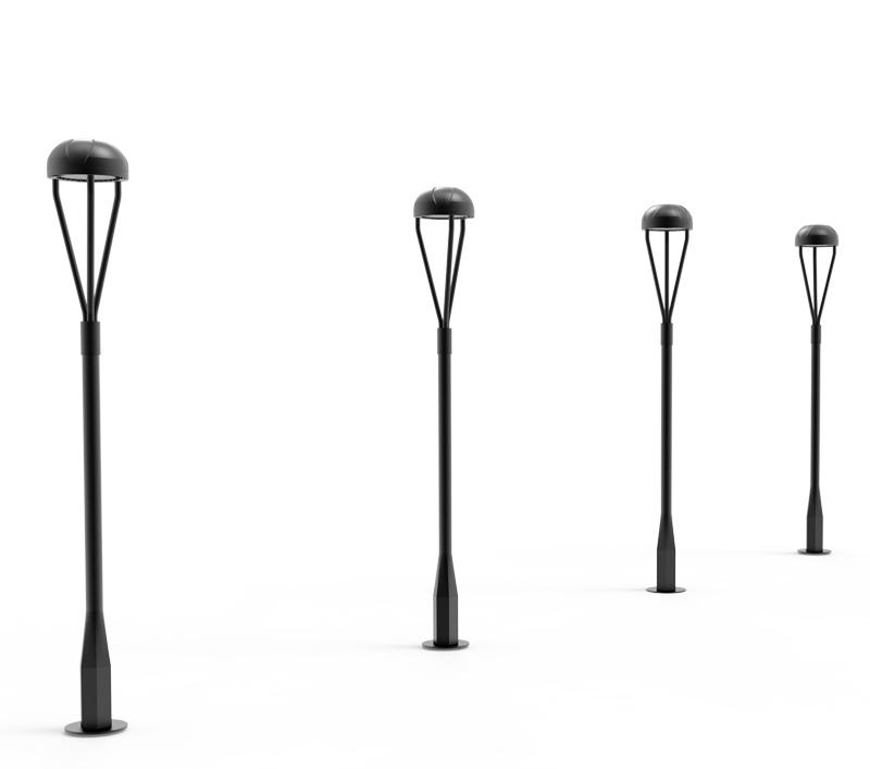 100W DLC CE RoHS LED Post Top Light Equal 250 HPS, Landscape Park lighting