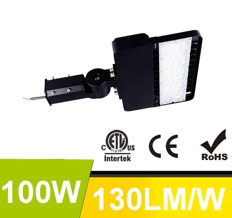 100W LED Shoebox Area Light Fixtures 130Lm/W 13000Lm