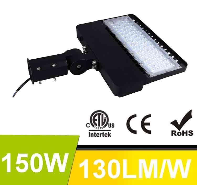 150W LED Shoebox Area Light Fixtures 130Lm/W 19500Lm