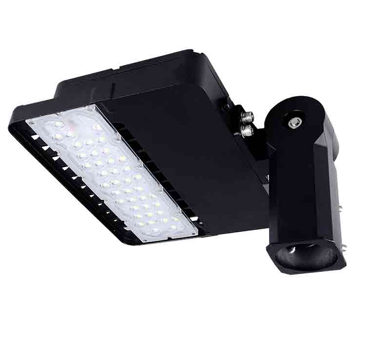 100W 347-480V LED Shoebox Area Light Fixtures 170Lm/W 17000Lm