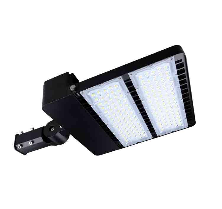 200W CE RoHS LED Shoebox Area Light Fixtures 130Lm/W 26000Lm