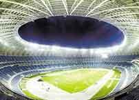 Football field LED stadium floodlights