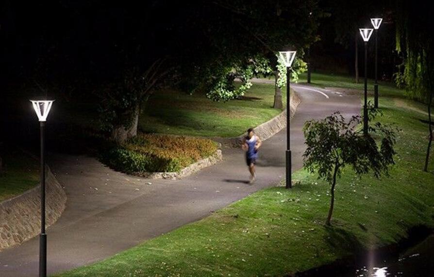 60w Dlc Iecee Led Post Top Light Outdoor Park Pathway Garden Landscape Lights