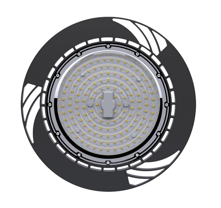 60W 130Lm/W 7800Lm Sosen Hurricane UFO High Bay Light Fixtures