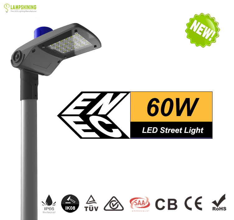 60w LED Street Light Specification, Replaceable 125W HPS