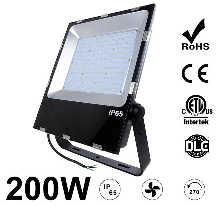 200W LED Flood Light Fixtures 26000Lm Waterproof ETL cETL DLC