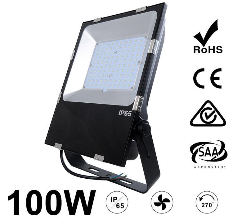 100W LED Flood Light Fixtures 12000Lm Waterproof SAA Ctick CE RoHS