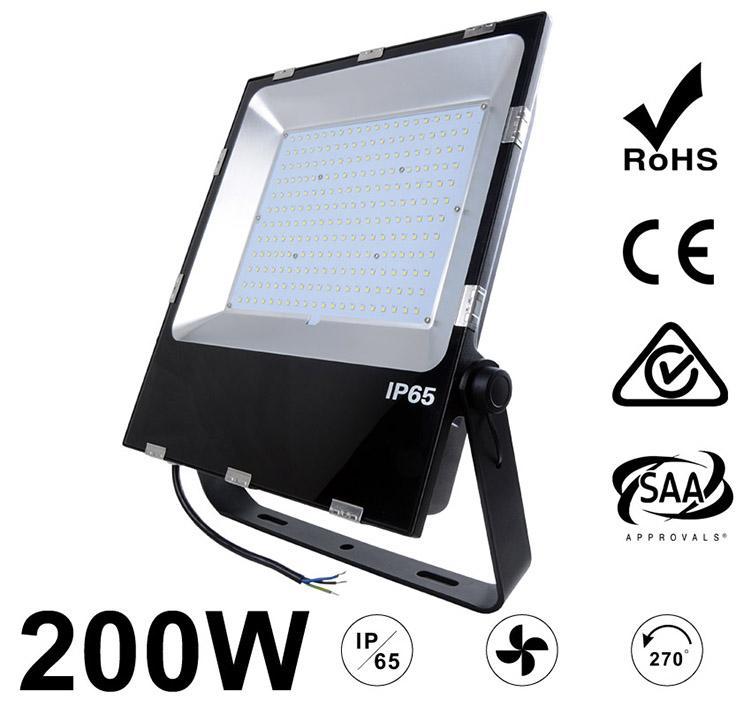 200W LED Flood Light Fixtures 24000Lm Waterproof SAA Ctick CE RoHS
