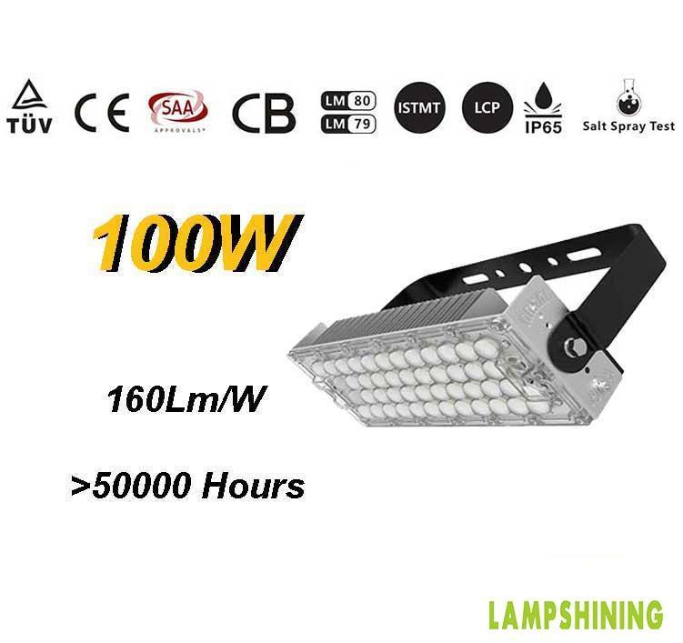 100W TUV SAA LED High Mast Light,Rotatable Module,160Lm/W,16000 Lumen,IP65,Stadium Light,Sports Lighting,Flood Lighting