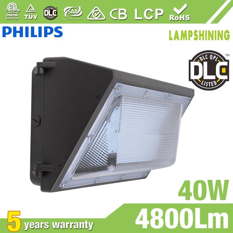 40W Semi Cut-off LED Wall Pack Lights,,4800 Lumens,IP65 waterproof
