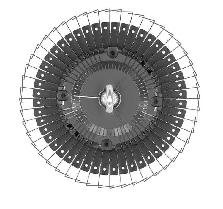 120W UFO LED High Bay Light 120Lm/W 14400 Lumen CE RoHS
