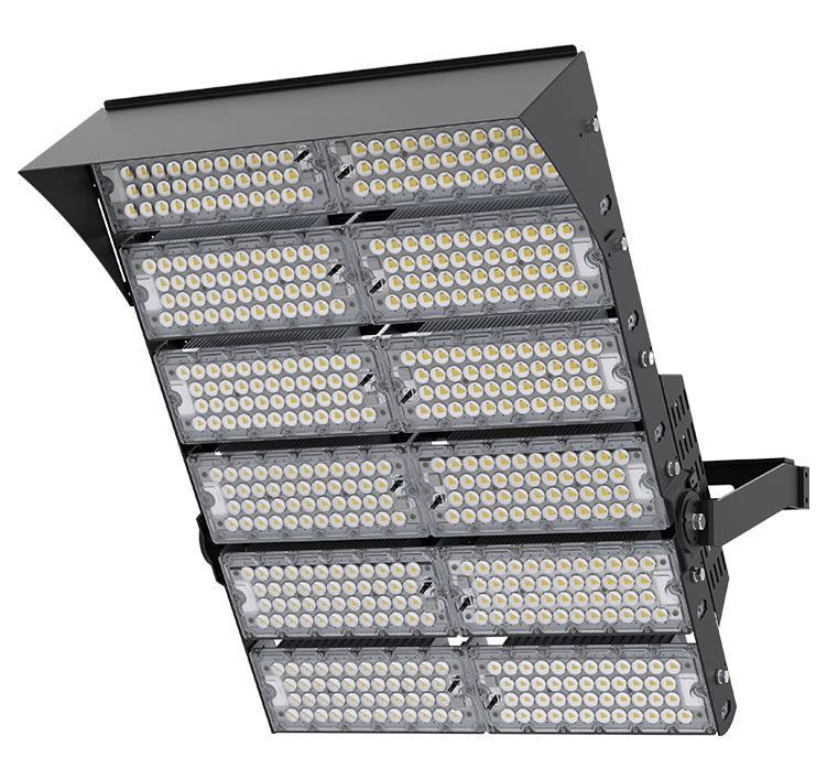 1440W 160LM/W LED Airport High Mast Lighting, Wharfs Flood Light fixtures