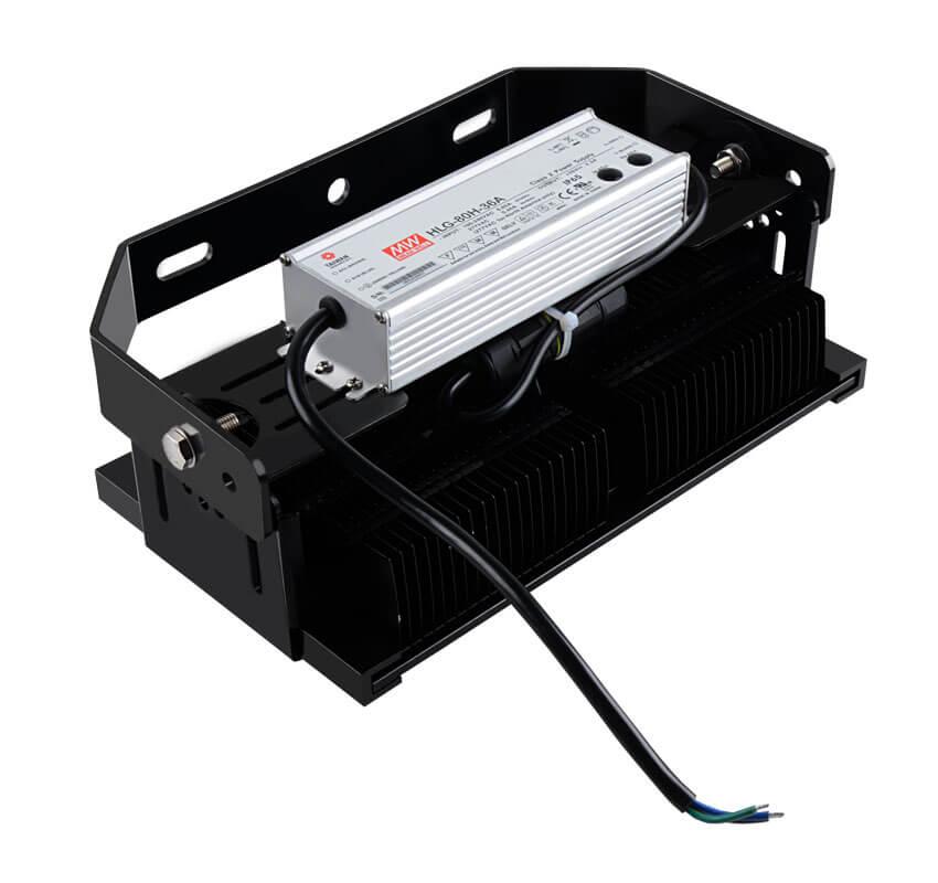 80W LED Flat High Bay Light 11400 Lumen Equivalent 200W HID/Metal Halide Light