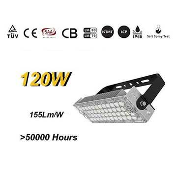 120w Outdoor LED Sports High Mast Lighting Fixtures with TUV SAA certifications