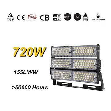 720W LED High Mast Light - Softball,Basketball,Field Flood Lighting