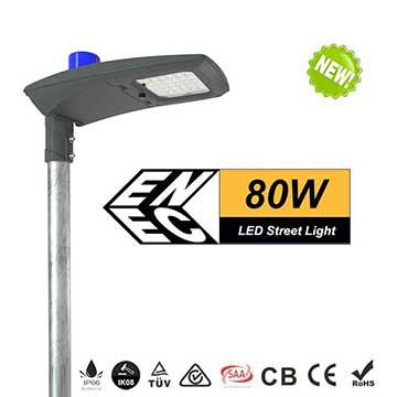 80w DLC ETL ENEC led street light-10400 Lumen-135Lm/w -Waterproof IP66