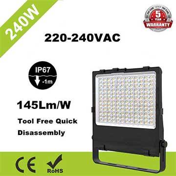 IP67 LED Flood Light Fixtures 240w SMD5050 DC48V ip67 Equivalent 500W HPS
