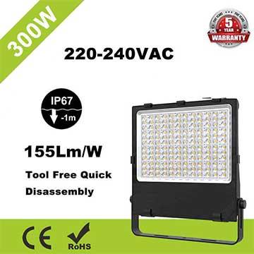 300W LED Flood Light 5700K High Lumen Outdoor IP67 equivalent 600W Metal Halides