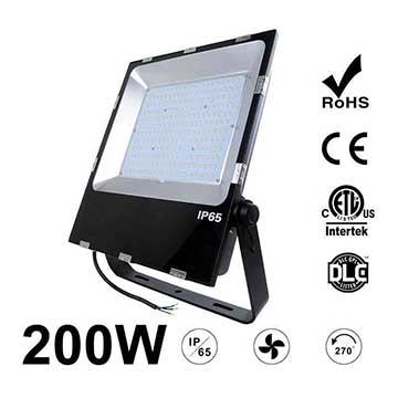 200W LED Flood Light Fixtures 26000Lm Waterproof ETL cETL DLC