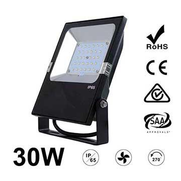 30W LED Flood Light Fixtures 3900Lm Waterproof CE RoHS SAA Ctick