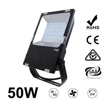 50W LED Flood Light Fixtures 6500Lm Waterproof CE RoHS SAA Ctick