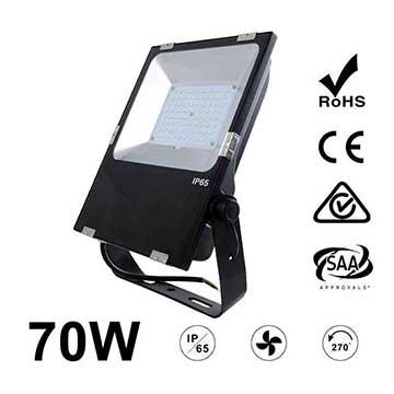 70W LED Flood Light Fixtures 9100Lm Waterproof CE RoHS SAA Ctick