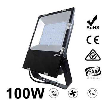 100W LED Flood Light Fixtures 12000Lm Waterproof SAA Ctick CE RoHS