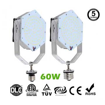 60W LED Retrofit Kits for 175W Metal Halide Fixtures 6,480Lm Parking Lot Lighting Retrofit