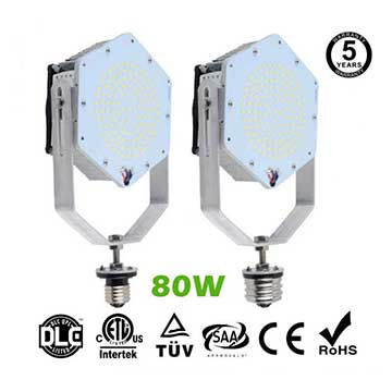 80W LED Retrofit Kits for 275W Metal Halide Fixtures 11,520Lm Parking Lot Lighting Retrofit