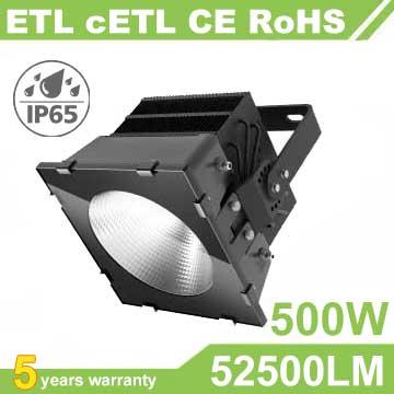 500W LED Stadium Light,High Mast Light,105Lm/W,52500LM,IP66 Waterproof