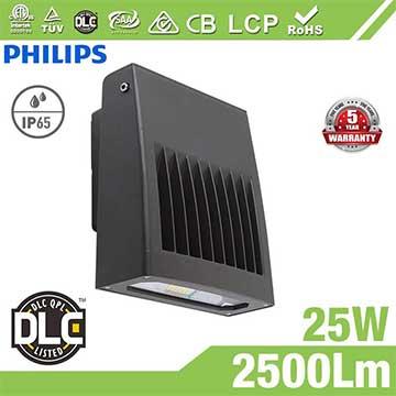 25W Full Cut-off LED Wall Pack Lights,100Lm/W,2500 Lumens,IP65 waterproof