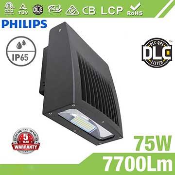 75W Full Cut-off LED Wall Pack Lights,7700 Lumens,IP65 waterproof