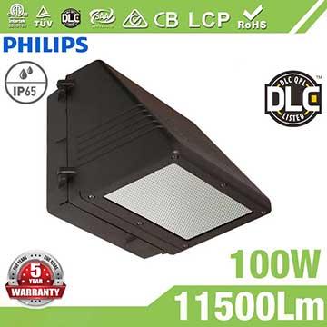 100W Full Cut-off LED Wall Pack Lights,,11500 Lumens,IP65 waterproof