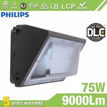 75W Semi Cut-off LED Wall Pack Lights,,9000 Lumens,IP65 waterproof