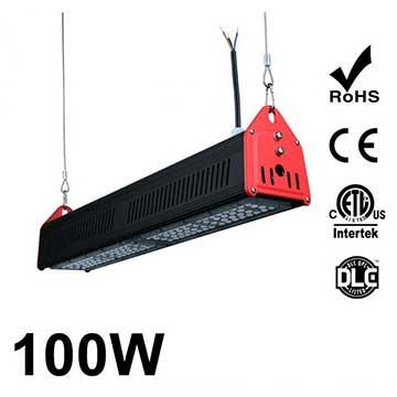 100W LED Linear High Bay Light 12700Lm CE RoHS ETL DLC